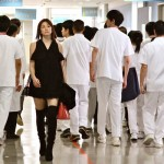 Surgeon Michiko Daimon (Ryoko Yonekura) breaks from the pack in Doctor X